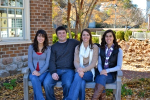 left to right: Ashley (youngest sister), Chris (older brother), Me, Lauren (younger sister)