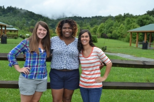 left to right: Morgan (wonderful roommate and friend), Toshia (friend and best co-teacher ever), Me