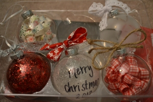 the ornaments I made :)
