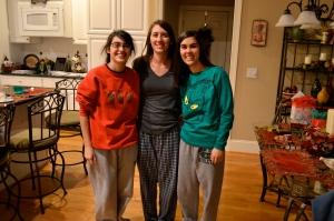 PJ time on Christmas Eve (thanks mom for my Grinch shirt) :)