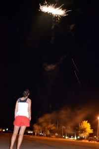 shooting off fireworks